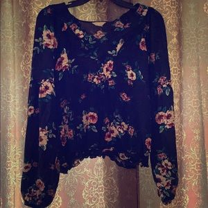 Aeropostale floral blouse.  Worn once. Size large